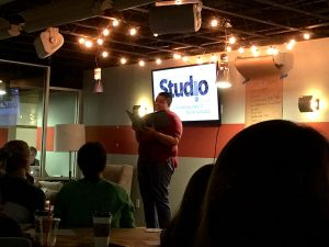 Speaker at one of Union Coffeehouse's Studio events.
