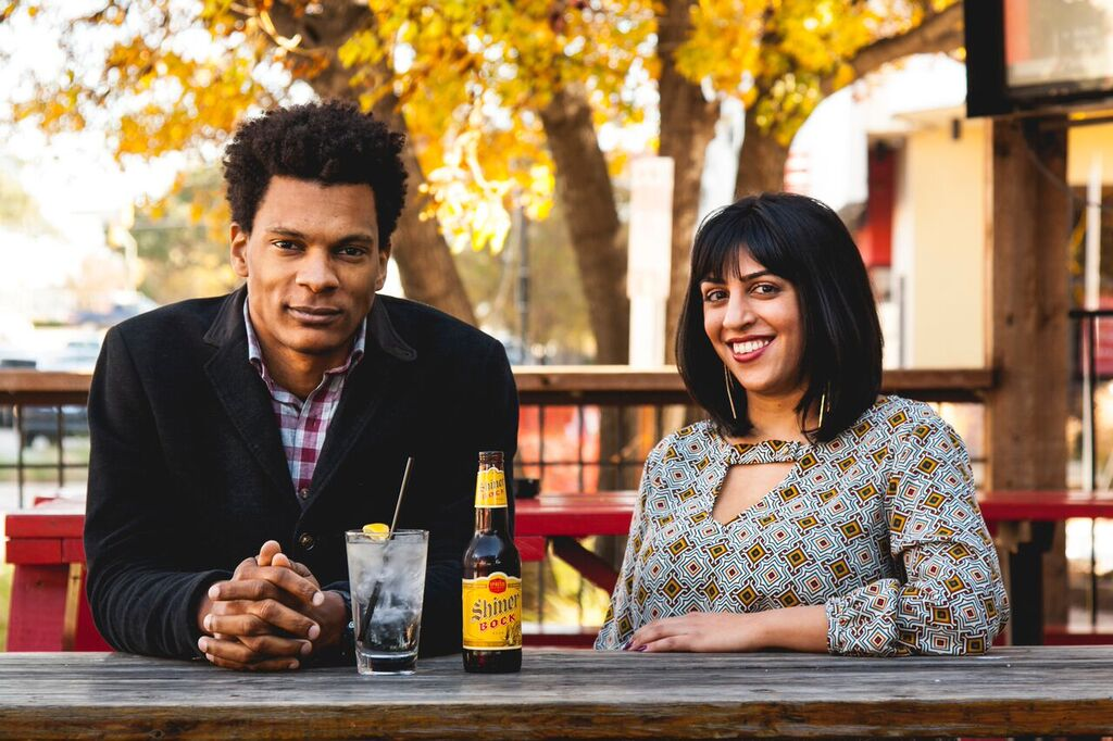 Thomas Mosley and Sonali Kumar, co-founders of Dallas IQ Bar. Photo by Imani Lytle.