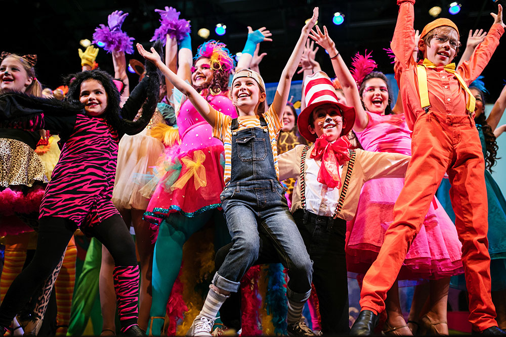 Seussical: the Musical at Plano Children's Theatre, one of the productions the technology is being used at.  Photo by: Nicki Behm Photography