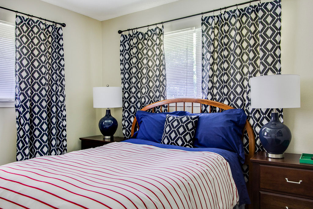 A look at the newly designed bedroom. Photo: Dwell With DIgnity/nousDECOR