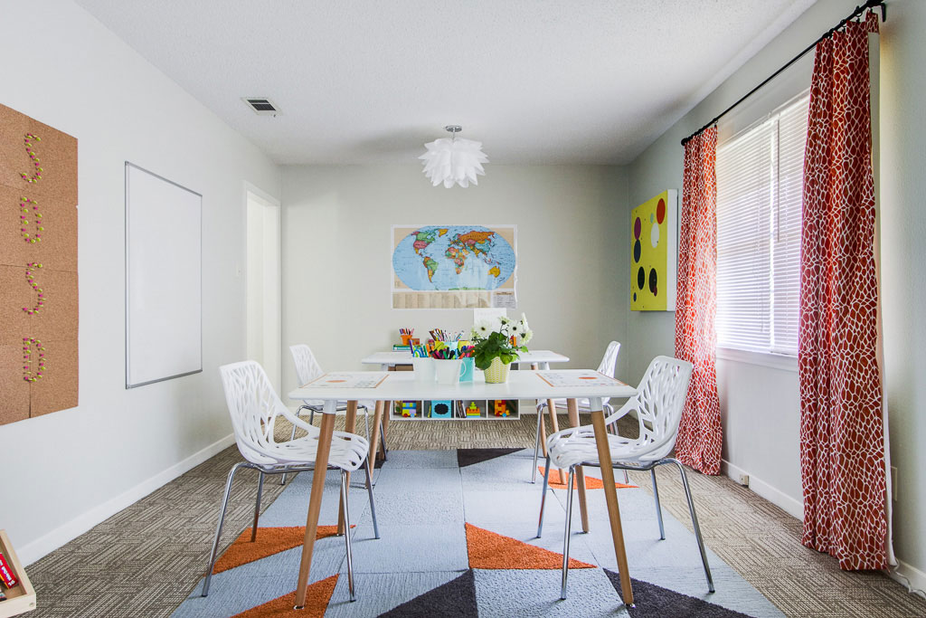 This living room was designed by Dwell With Dignity. Photo: Dwell With DIgnity/nousDECOR