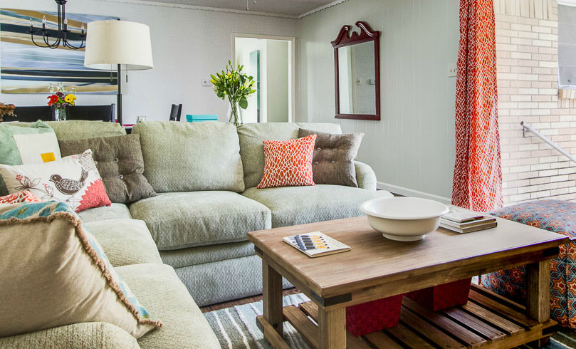 The furniture used in the homes is gently used or brand-new. Photo: Dwell With DIgnity/nousDECOR