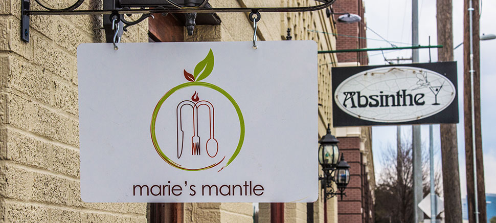 Marie's Mantle shares a kitchen with Absinthe Lounge next door. Photo by Michael Samples.