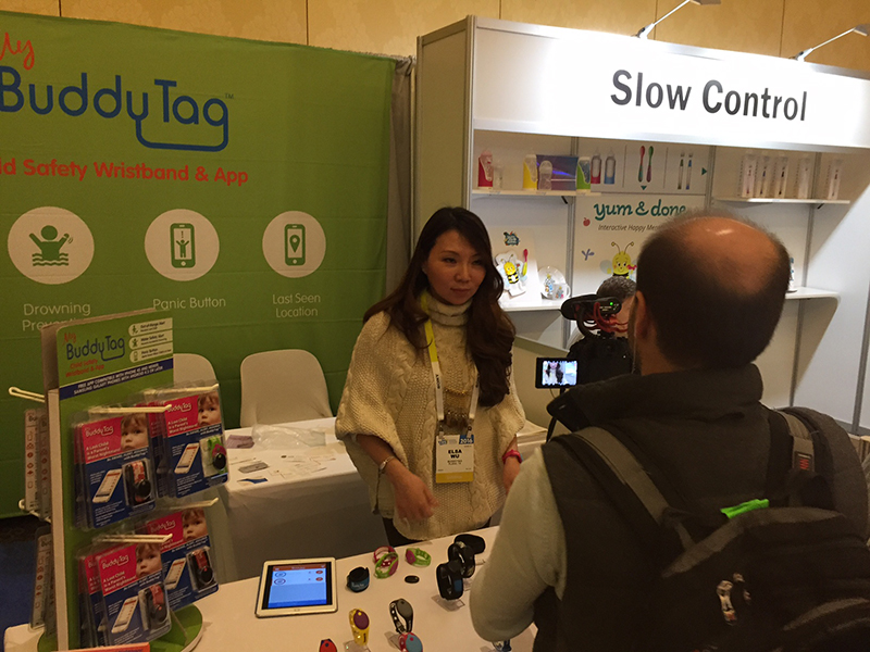 BuddyTag's booth at CES 2016.