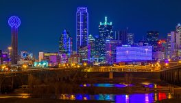 Why is the Dallas Skyline Purple?