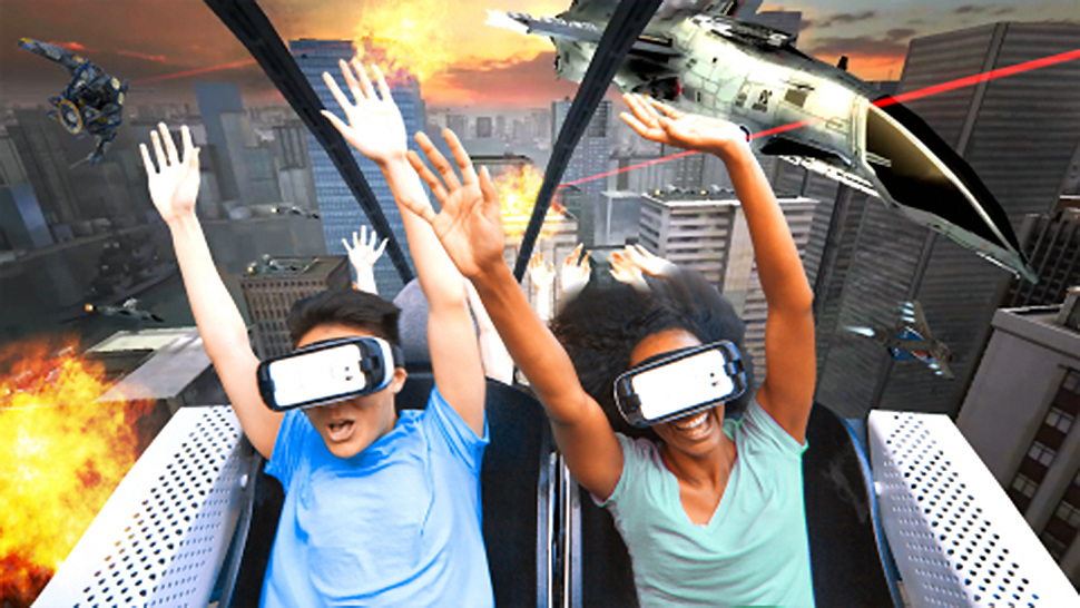 Six Flags virtual reality rollercoasters