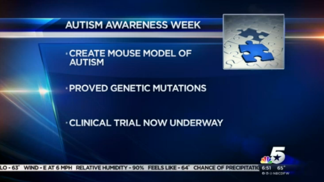 Autism Awareness Week: Dallas Scientists Make Gains in Autism Research | www.nbcdfw.com