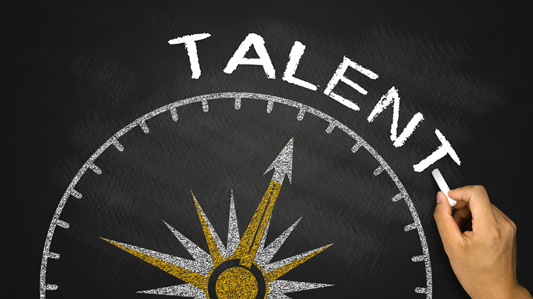 talent concept on blackboard background
