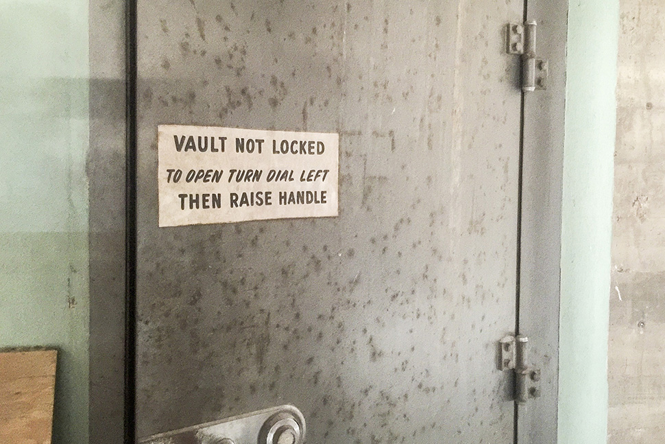 Vault in 1808 Good Latimer. (Dallas Innovates staff photo)