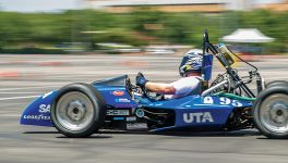 Electric Car Adds Buzz to UTA Race Event