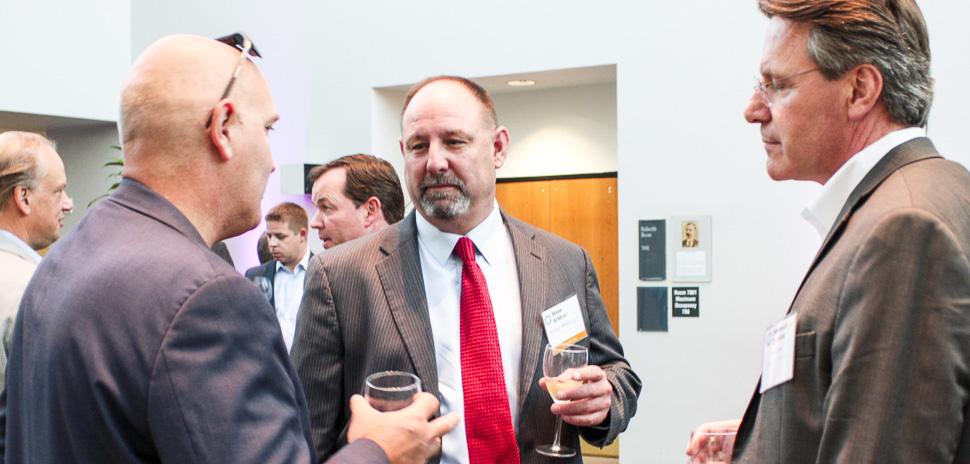 Executive Hosts Gregory Ericson, CIO, Essilor USA and Mark BeMent, CIO, Jackson Walker LLP, with Emmanuel Delpierre of Perficient