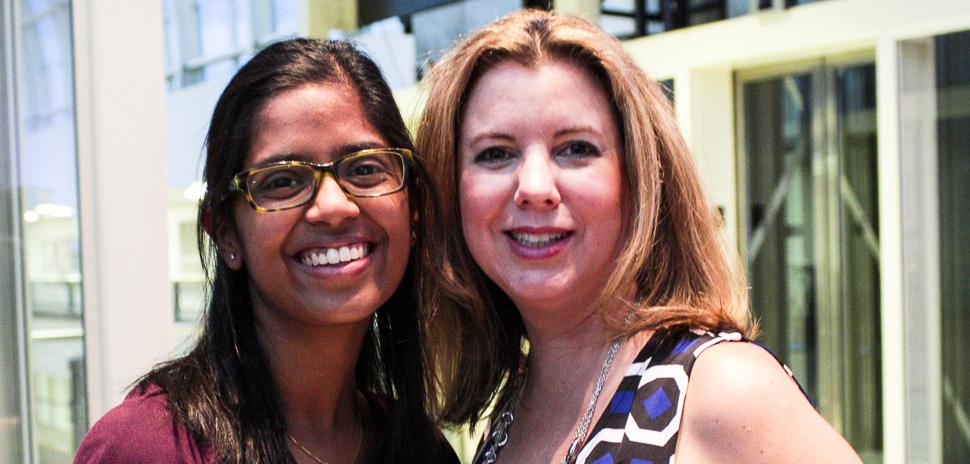 MentorNet Protege Catherine Jojo and Technology Ball President & Founder Karen Bruno