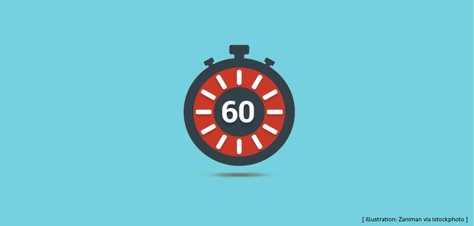 60 second training video illustration