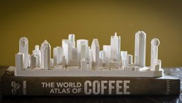 Dallas Resident Fashions 3D Models of City Skylines