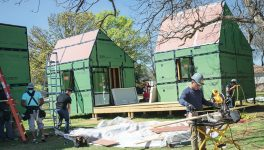 UTA Students Make Big Project out of Tiny Houses