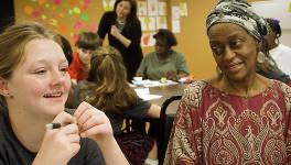 Wesley Prep Students, </br>Homeless Women&nbsp;Team&nbsp;to Create Poetry